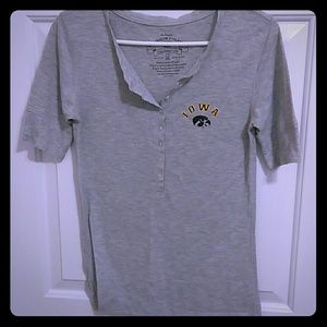 Iowa hawkeye fitted tee